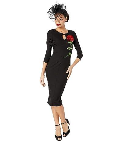 Unique Vintage 1960s Maryland Wiggle Dress (Black) Women