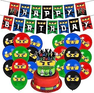 Heidaman Ninja Birthday Party Supplies Ninja Birthday Decorations Ninja Party Supplies Set Include Ninja Banners Balloons ...