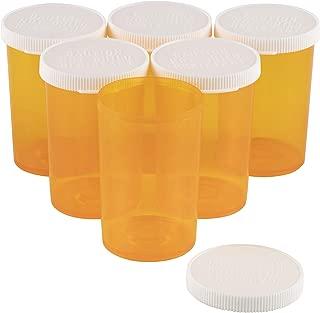 Juvale Empty Prescription Pill Vial Container 20 Dram Bottles (50 Count)