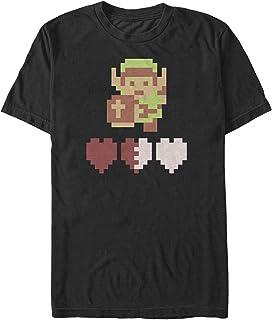 Nintendo Men`s Zelda 8-Bit Hearts T-Shirt