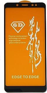 شاشة حماية 6 دي زجاج لاصقة كاملة لهاتف شاومي ريدمي نوت 5 / نوت 5 برو - لون اسود
