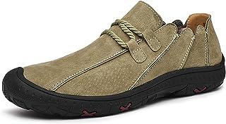 Zapatos casuales Zapatos perezosos para hombres, zapatos casuales irregulares, dedos de cuero de la PU de encaje, dedos an...