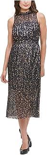 KENSIE Womens Navy Floral Sleeveless Halter Midi Sheath Dress AU Size:4