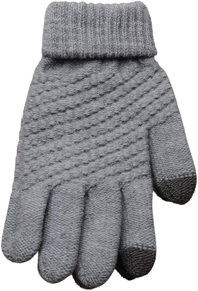Arystk Man Women Gloves Knit Wool Winter Keep Warm Mittens Gloves