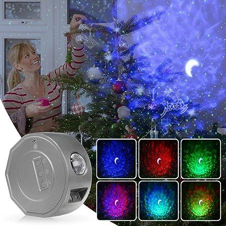 EmeritPro lumière de projecteur à LED, projecteur de lumière de vague océanique nébuleuse étoilée nuage veilleuse ambiance pour enfants chambre projecteur de jeu lampe-gris
