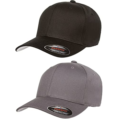 628092541b2d6 2-Pack Premium Original Flexfit Cotton Twill Fitted Hat w  THP No Sweat  Headliner