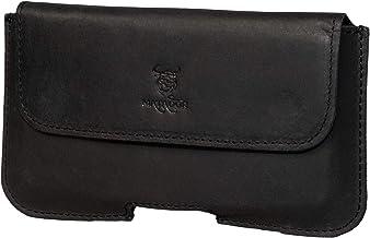 MATADOR Leder Gürteltasche kompatibel mit Apple iPhone XR /11/12 / 12 PRO Doppel Schlaufe Magnetverschluss Schwarz