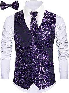 WANNEW Mens Vest Suit Vests Tuxedo Vest Vest for Men