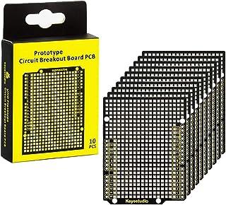 KEYESTUDIO PCB Prototype Shield for U&O R3, MEGA 2560, Leonardo, Nano, Raspberry Pi for Arduino Project (10 PCS)