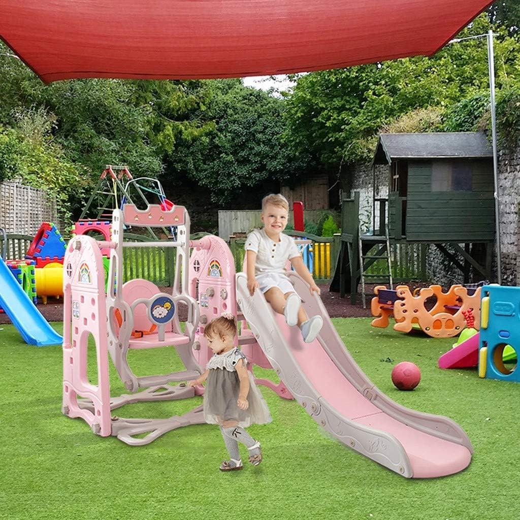 JOSHUA 6 in 1 Toddler Slide and Swing Set for Kids, Climber Slid