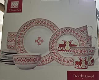 222 Fifth Deerly Loved 16-Piece Dinnerware Set, Service for Four