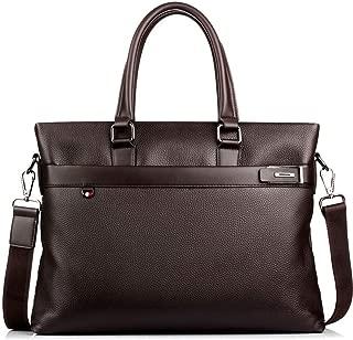 Men's Leather Handbag, Messenger Bag top Layer Cowhide Large Capacity Shoulder Bag Casual Men's Backpack