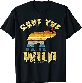 Save The Wildlife Animal Conservation Elephant  T-Shirt