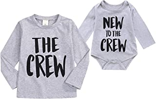 Sibling Shirts Set Big Brother/Sister T-Shirt & Littler Brother/Sister Onesie Bodysuit Matching Outfit Set