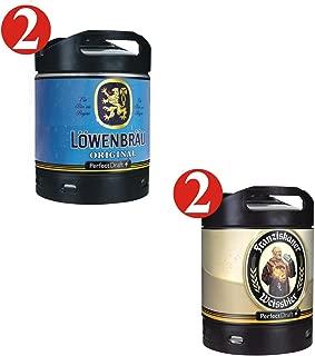 2 x Löwenbräu original 2 x Franziskaner cerveza Perfect Draft 6 barrils litros 5,2% y 5,0% vol