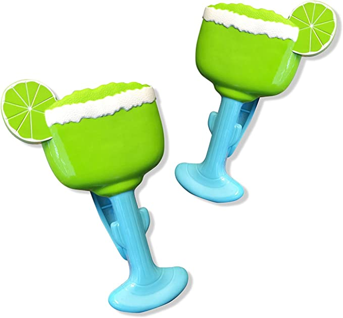 Beach Set of Two Details about  /O2COOL Parrot BocaClips Patio or Beach Towel Holders Clips