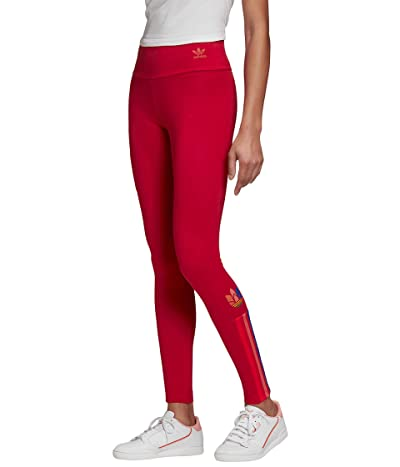 adidas Originals 3-D Trefoil Tights (Scarlet/Multicolor) Women