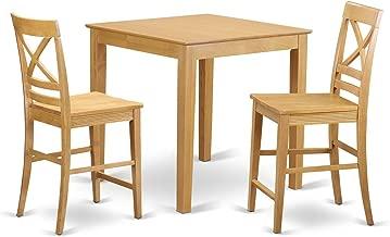 East West Furniture PBQU3-OAK-W Kitchen Set, Oak