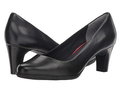 Rockport Total Motion Melora Plain Pump (Black Burn Calf) High Heels