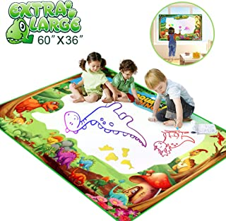 Betheaces Water Doodle Drawing Mat,Dinosaur Play Mats for Kids Extra Large 60