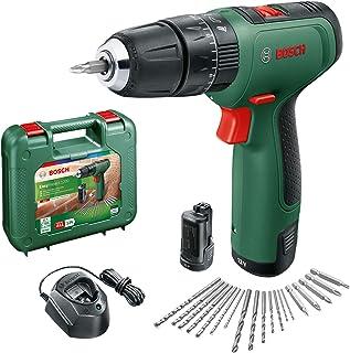 Bosch DIY tools 06039D3171 Bosch Cordless Hammer Drill EasyImpact 1200 (2x batteries, 12 volt system, 19 accessories, in c...