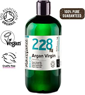 Naissance Organic Moroccan Argan Oil 16 fl oz - Pure & Natural, UK Certified Organic, Vegan, Hexane Free, No GMO - Unscented Natural Moisturizer & Conditioner for Face, Hair, Skin