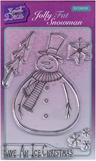 Sweet Dixie Jolly Fat Snowman Clear Stamp Set, 15 x 10.5 x 0.3 cm, Transparent