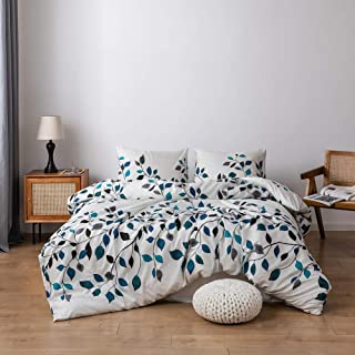 SANMADROLA Duvet Cover Set,Bedding Set Printed Duvet Cover,100% Washed Ultra-Soft Microfiber 3 Pieces, Soft and Breathable with Zipper Closure & Corner Ties (Style04,Full)