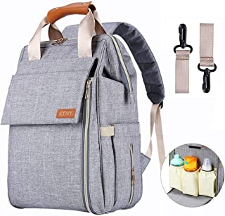 Diaper Bag,Baby Bag,Diaper Bag Backpack,Baby Diaper Bag for Girls and Boys,Multi-Function,Waterproof,Large Capacity, Stylish and Durable (Grey)