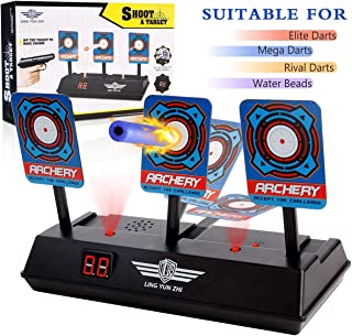 POKONBOY Target Compatible with Nerf Guns Shooting - N-Strike Elite/Mega/Rival, Electric Scoring Auto Reset Shooting Digital Target Toys for Boys