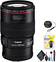 Canon EF 100mm f/2.8L Macro is USM Lens for Canon EF Mount + Accessories (International Model)