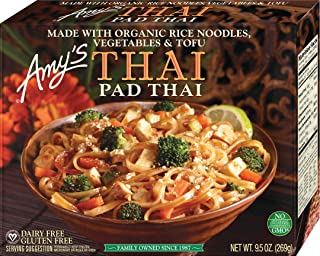 Amy's Pad Thai, Made with Organic Rice Noodles, Vegetables & Tofu, Non GMO, 9.5-Ounce