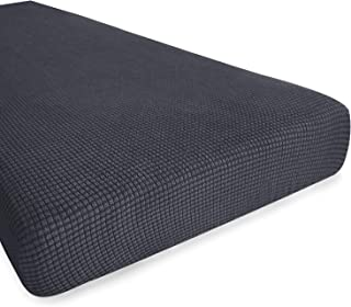 Best Hokway Stretch Couch Cushion Slipcovers Reversible Cushion Protector Slipcovers Sofa Cushion Protector Covers(Gray, Medium) Review