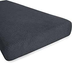 Hokway Stretch Couch Cushion Slipcovers Reversible Cushion Protector Slipcovers Sofa Cushion Protector Covers(Gray, Medium)