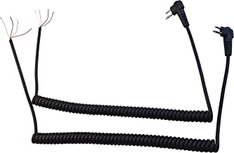 Anteenna TW-M-REP-CABLE ( 2 PACKS ) Replacement Cable Of Remote Speaker Mic For Two Way Radio For Motorola GP-2000/GP-300 Radio 2 Pins Plug