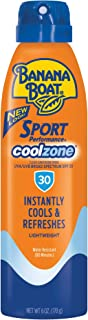Banana Boat Sunscreen Sport Perfomance Cool Zone Broad Spectrum Sun Care Sunscreen Spray - SPF 30, 6 Ounce
