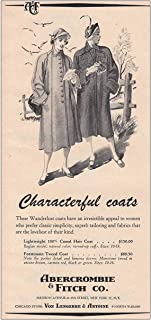 RelicPaper 1950 Abercrombie & Fitch: Characterful Coats, Abercrombie & Fitch Print Ad