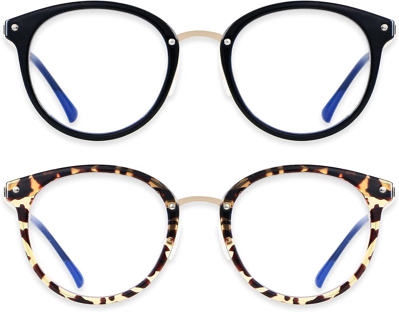 Blue Blockers Glasses for Women Computer Screen Cute Retro Blue Light Blocking Eye Strain ANDWOOD