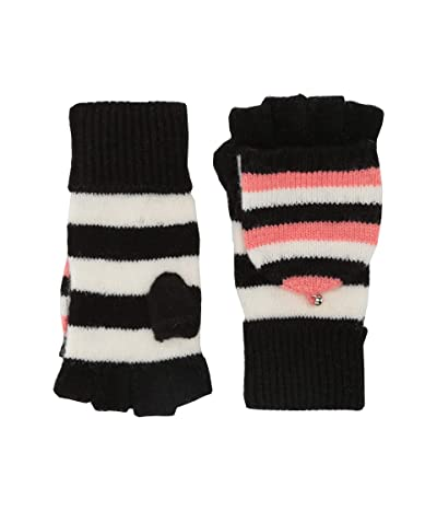 Kate Spade New York Heritage Stripe Pop Top Gloves (Black) Gore-Tex Gloves