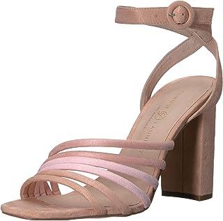 Chinese Laundry Women's Jonah Heeled Sandal, Blush Multi Suede, 6.5 M US
