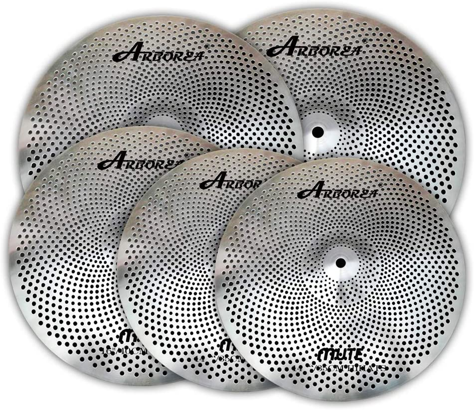 Arborea 海外並行輸入正規品 Mute Cymbals 使い勝手の良い 14''Hihat+16''Crash+18''Crash+20''Ride Set