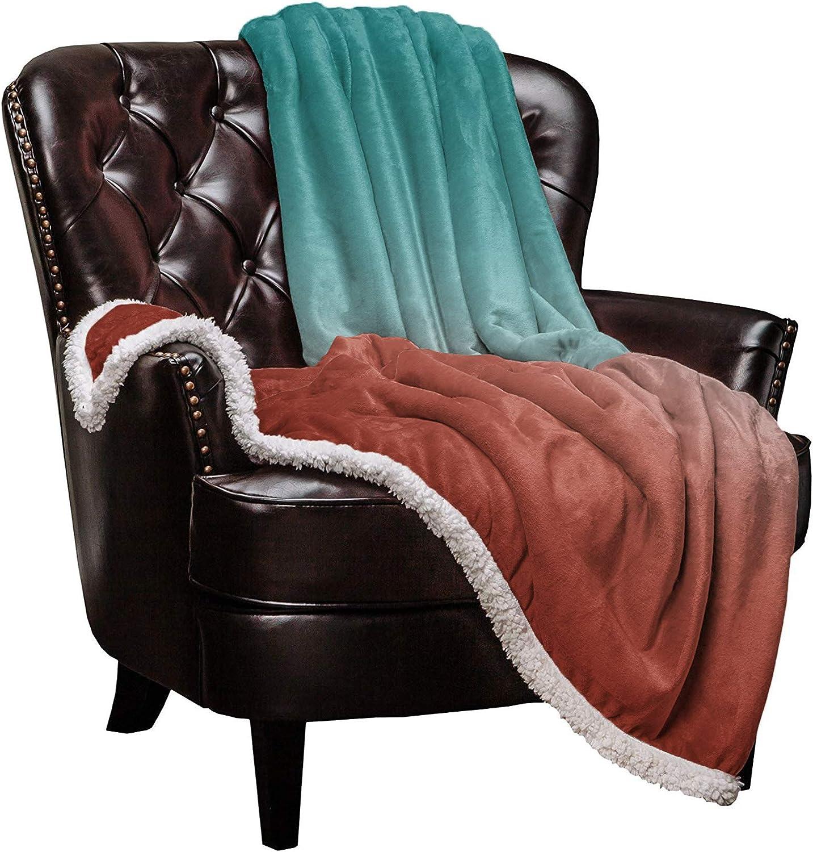 Sherpa Great interest Fleece 2021 Throw Blanket Cozy Soft Warm Ombre Blankets Gr Bed