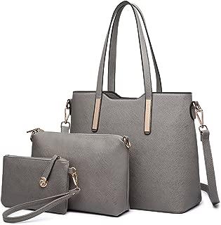 Miss Lulu Women Handbag Purse Fashion Shoulder Bag PU Leather Tote Set 3 Pieces
