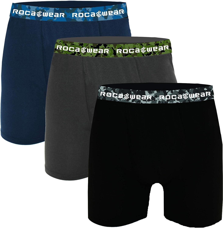 Rocawear 3-Pack Micro Modal Boxer Briefs, Comfort Fit Lightweight Underwear