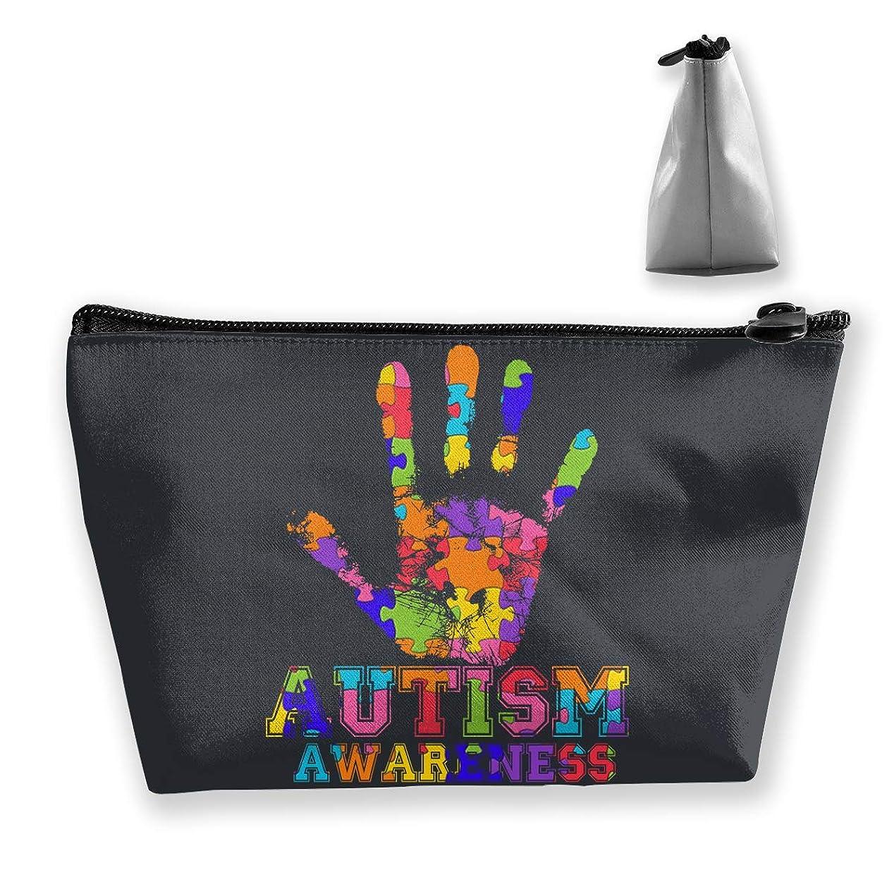 海岸ゴミ提供するSzsgqkj 自閉症意識 化粧品袋の携帯用旅行構造の袋の洗面用品の主催者