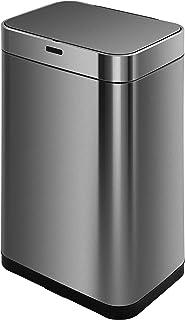 comprar comparacion KITCHEN MOVE BAT-60LS18-1 - Papelera de Cocina automático (60 L, Acero y Negro, 42 x 30 x 77 cm)