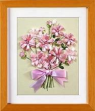 Wandafull Ribbon embroidery Kit Handmade Red Bow Flower (No frame)