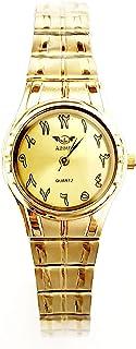 ساعة اديماكس للنساء - انالوج كوارتز - سوار ستانلس ستيل مينا ذهبية -sl800
