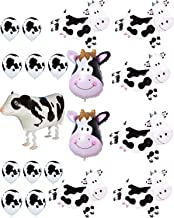 Agreatca Cow Balloons Party,Farm Animal Cow Theme Birthday Party Supplies Birthday BBQ Party Decorations.
