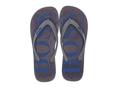 BOSS Hugo Boss Wave Thong Sandal By Boss Green (Open Blue) Men